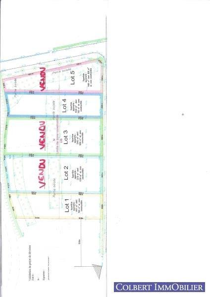 Verkoop  stukken grond Moneteau 51000€ - Foto 2