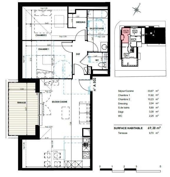 Vente appartement Castanet tolosan 279000€ - Photo 8