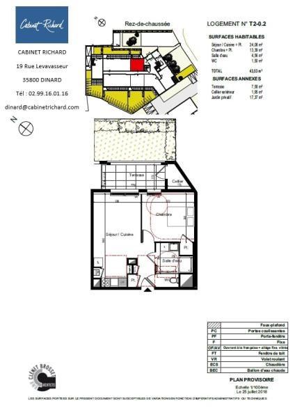 APPARTEMENT ST MALO - 2 pièce(s) - 43.53 m2