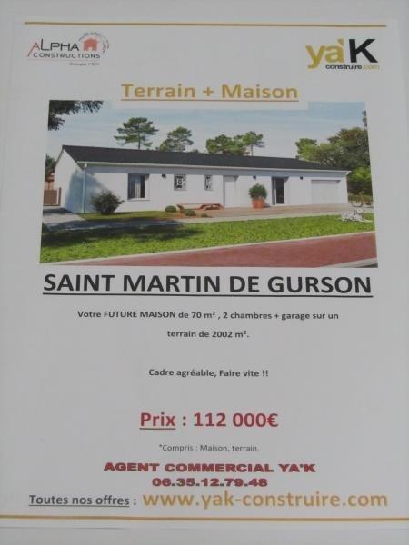 Vente terrain St martin de gurcon 22000€ - Photo 2