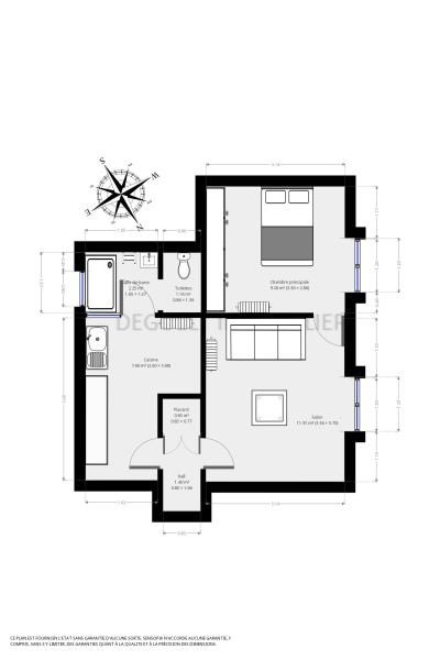 Location appartement Versailles 950€ CC - Photo 3