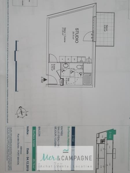 Vente appartement Fort mahon plage 101000€ - Photo 2
