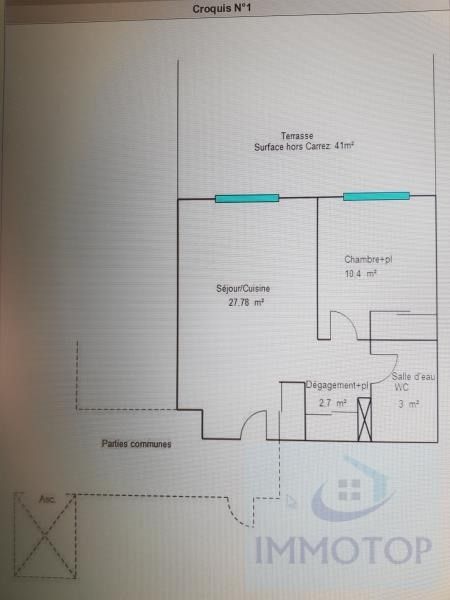 Vente appartement Menton 229800€ - Photo 13