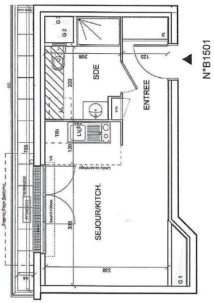 Appartement Romainville 1 pièce (s) 23.94 m²