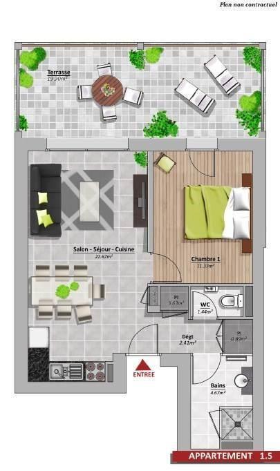 Venta  apartamento Amancy 179000€ - Fotografía 8