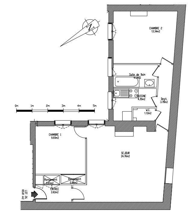 Rental apartment Paris 17ème 2700€ CC - Picture 4