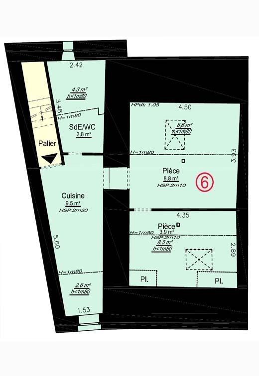 Vente appartement Pont de cheruy 65000€ - Photo 4