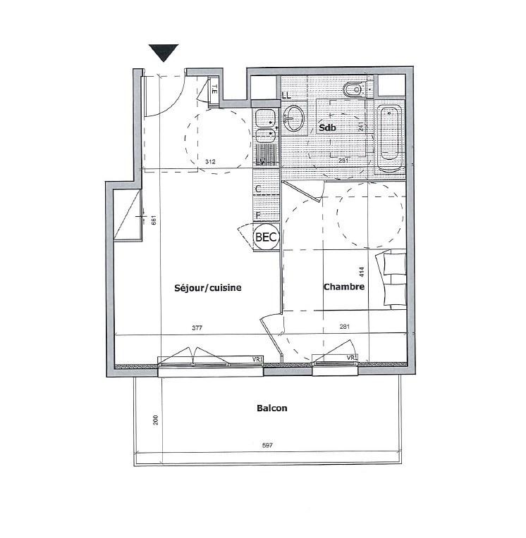 Vendita appartamento Cagnes sur mer 219000€ - Fotografia 2