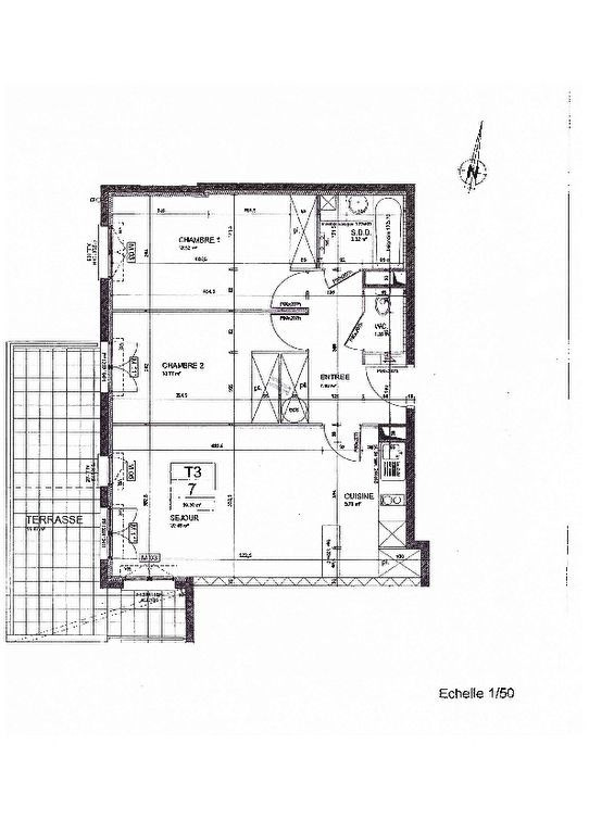 92- Appartement 3 pièces 58.04 m² terrasse cave et parking