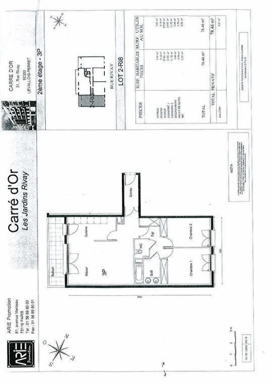 Location appartement Levallois perret 2500€ CC - Photo 3