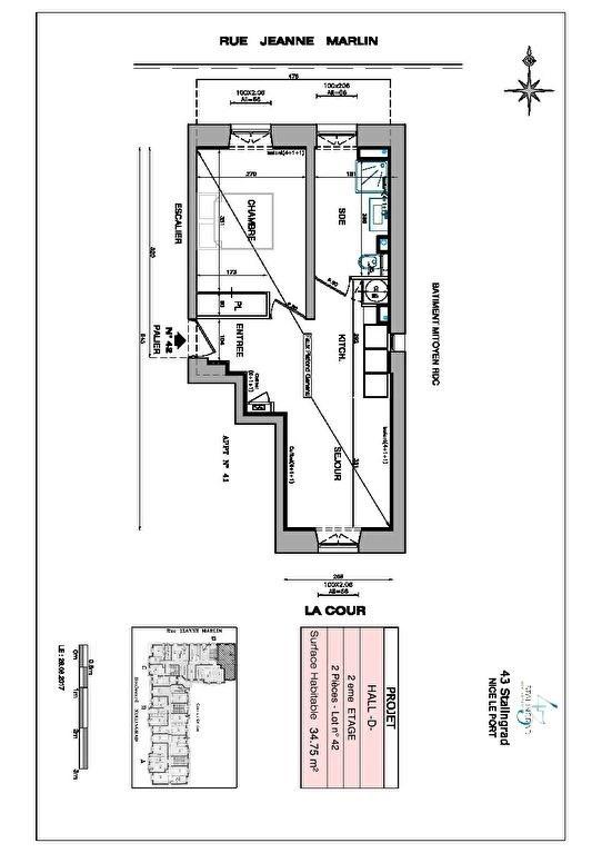 Producto de inversión  apartamento Nice 238000€ - Fotografía 9