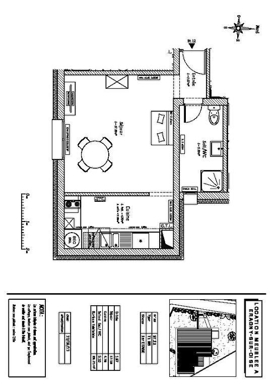 Rental apartment Eragny 623€ CC - Picture 6