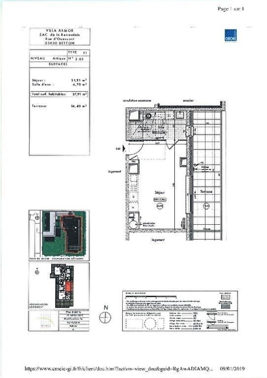 Location appartement Betton 423€ CC - Photo 3