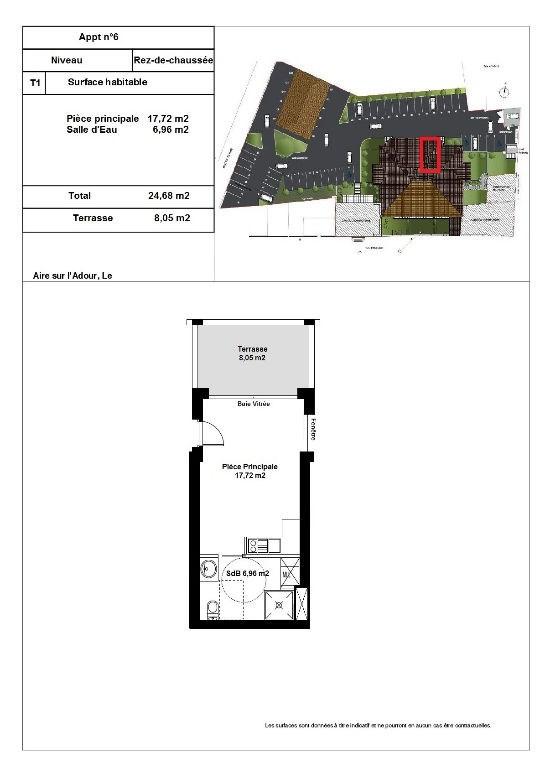 Sale apartment Aire sur l adour 64900€ - Picture 2