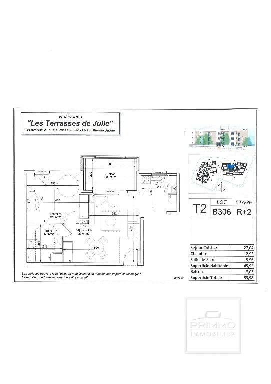 Produit d'investissement appartement Neuville sur saone 237000€ - Photo 1