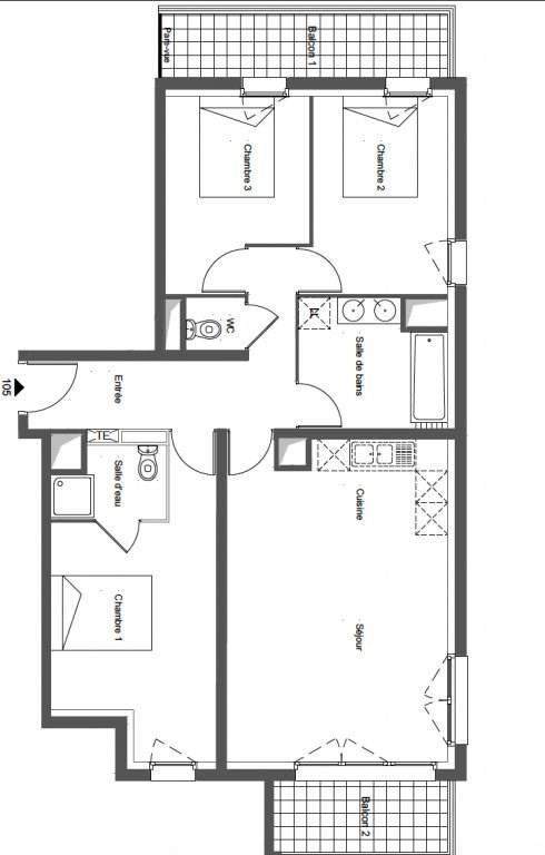 Sale apartment Noisy-le-sec 298916€ - Picture 1