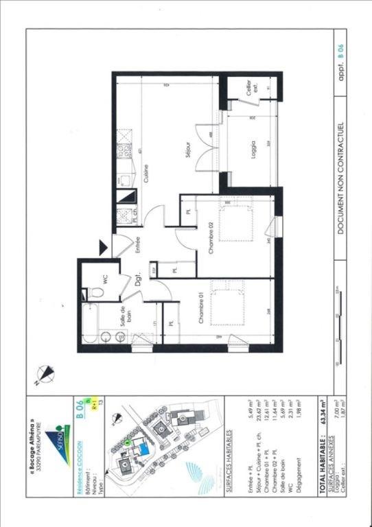 Vente appartement Parempuyre 222000€ - Photo 2
