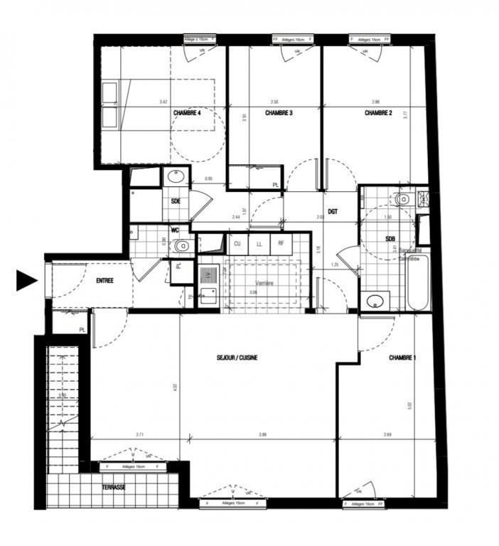 Vente de prestige appartement Montrouge 1224000€ - Photo 1