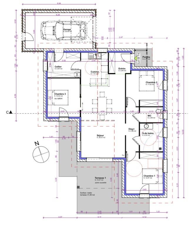 Vente maison / villa Aire sur l adour 238621€ - Photo 3