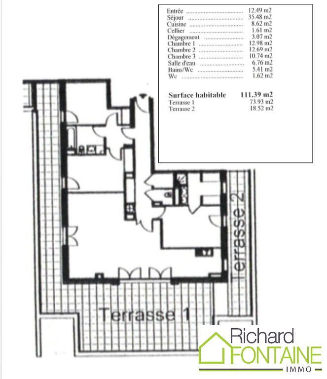 Vente appartement Cesson sevigne 445050€ - Photo 1