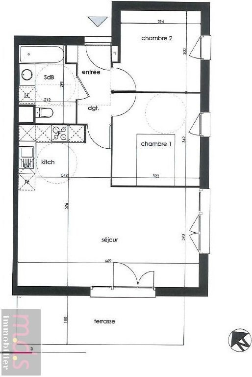 Vente appartement Rouffiac-tolosan 195000€ - Photo 3