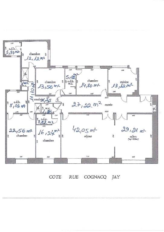 Vente de prestige appartement Paris 7ème 2540000€ - Photo 2