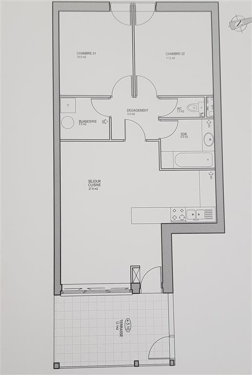 Vendita appartamento Ste genevieve des bois 262890€ - Fotografia 1