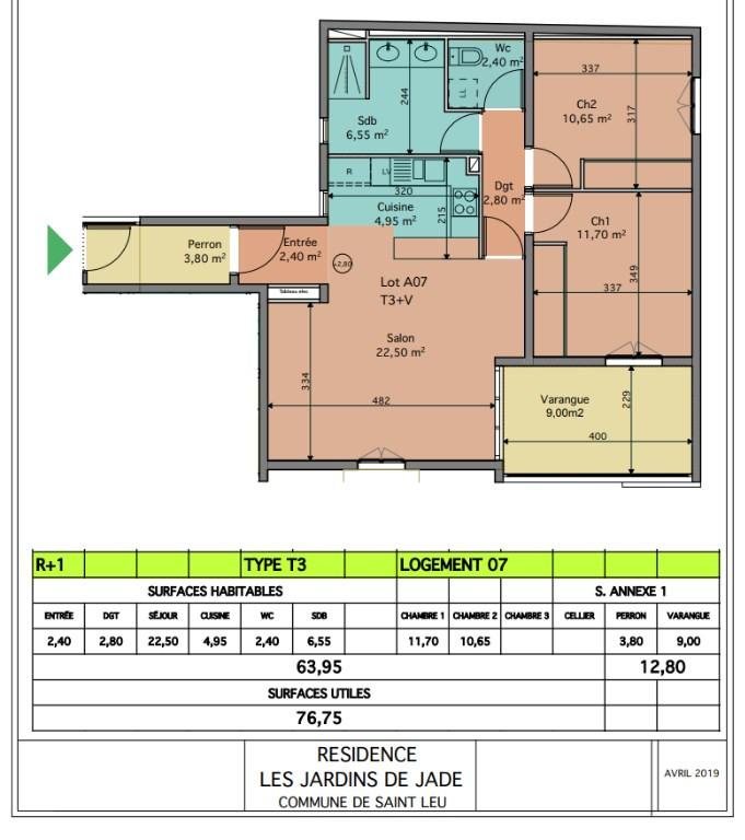 Investment property apartment Saint leu 353050€ - Picture 2