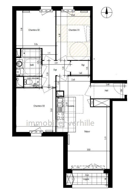 Vente appartement Ronchin 277000€ - Photo 2