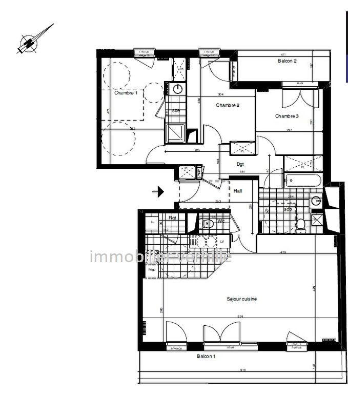 Sale apartment Croix 408500€ - Picture 2