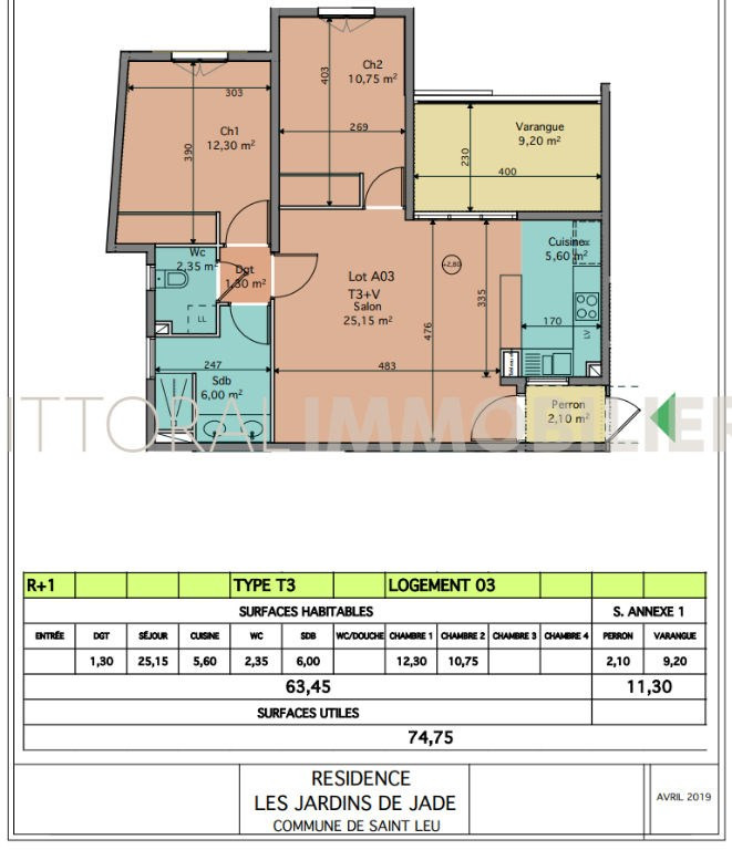 Investment property apartment Saint leu 343850€ - Picture 3