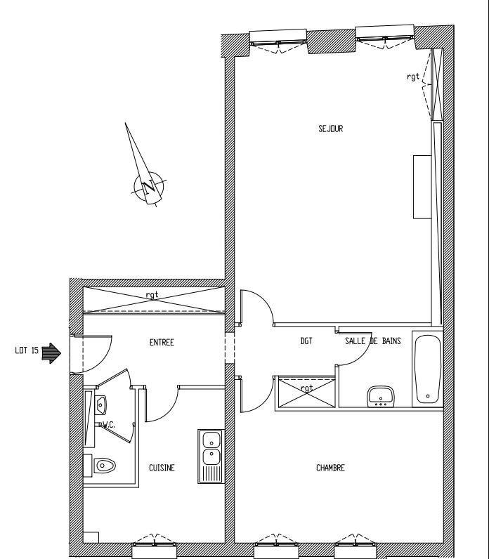 Alquiler  apartamento Paris 10ème 2600€ CC - Fotografía 3