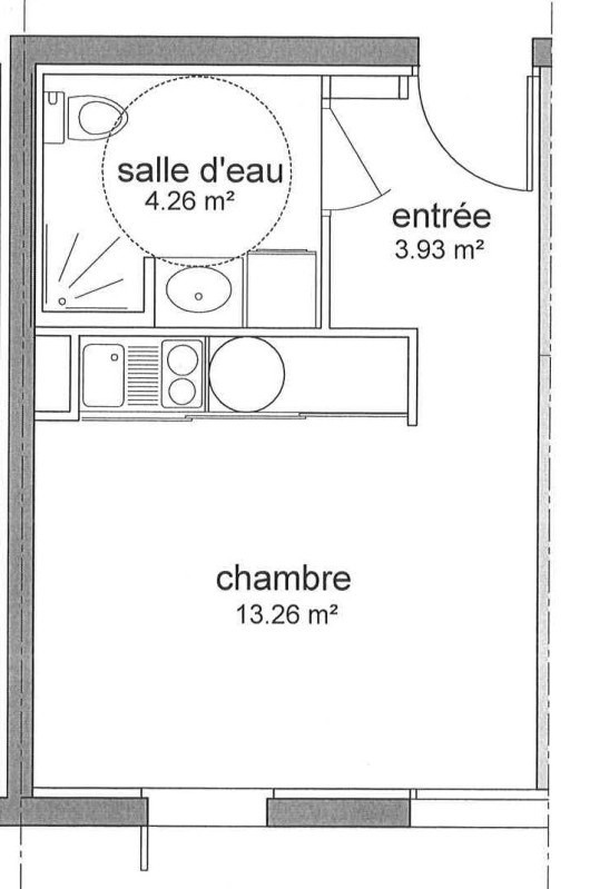 Location appartement Saint-nazaire 330€ CC - Photo 5