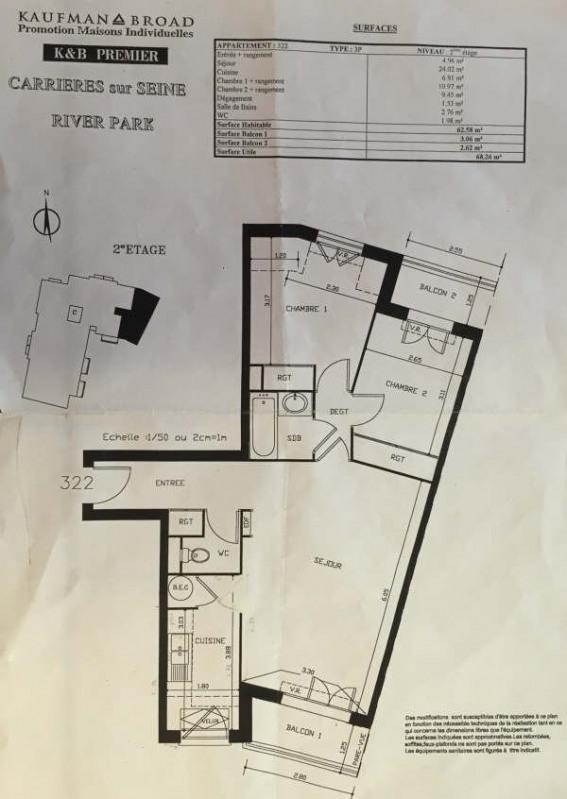 Rental apartment Carrieres sur seine 1265€ CC - Picture 5