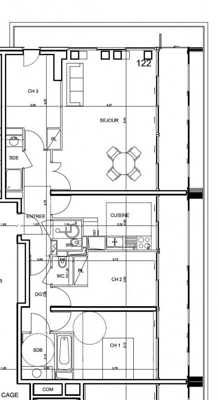 Rental apartment Boulogne-billancourt 2414€ CC - Picture 3