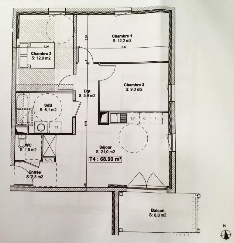 Venta  apartamento Schiltigheim 269000€ - Fotografía 2