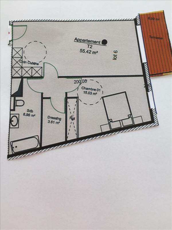 Vendita appartamento Charbonnieres les bains 299268€ - Fotografia 2