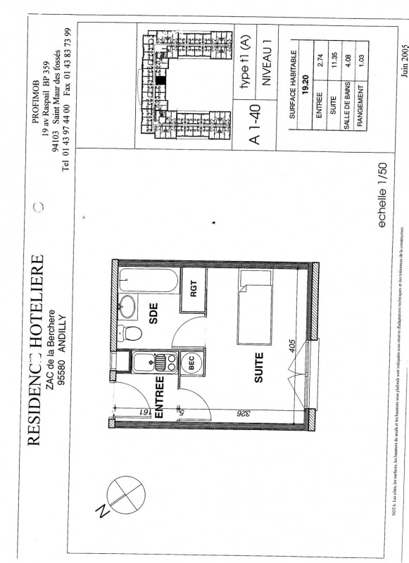 Vente appartement Andilly 45 000€ - Photo 1