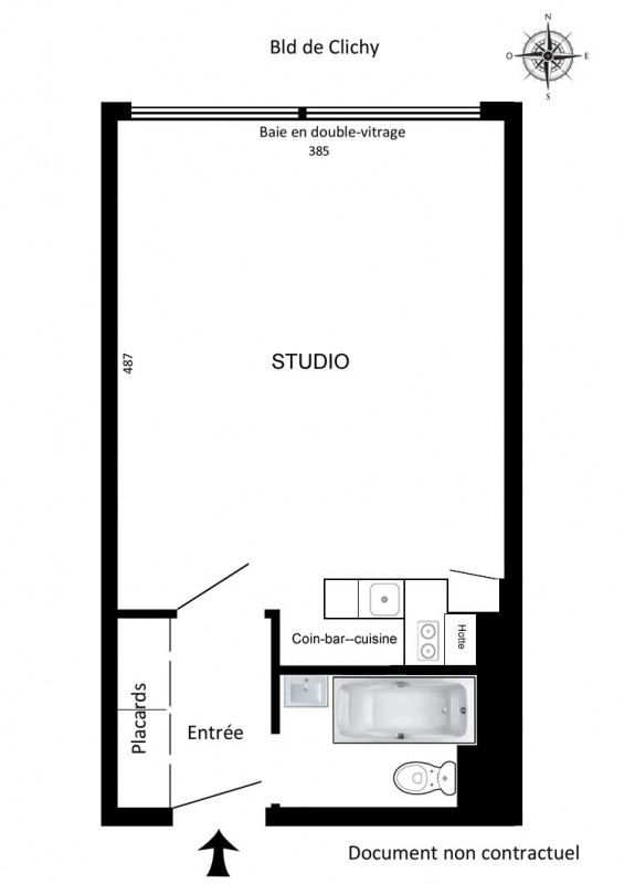Location appartement Paris 9ème 715€ CC - Photo 3