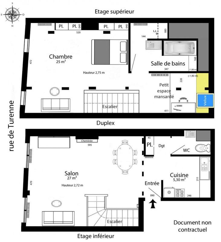 Rental apartment Paris 3ème 1757€ CC - Picture 4