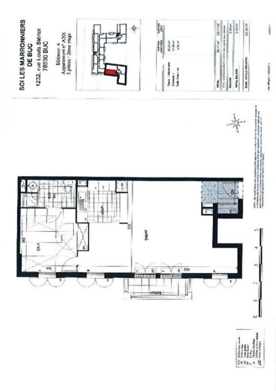 Rental apartment Buc 1100€ CC - Picture 6