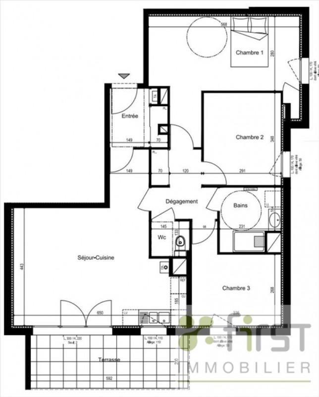 Venta  apartamento Annemasse 328000€ - Fotografía 3