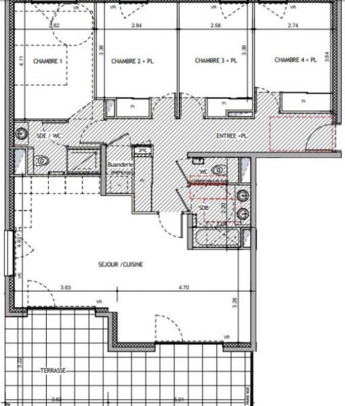 Verkoop  appartement Charbonnières-les-bains 543000€ - Foto 6