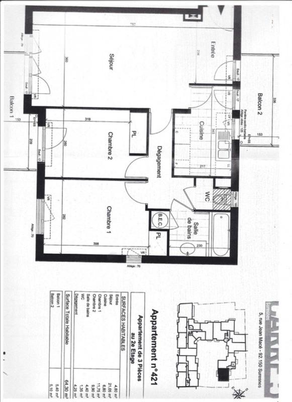 Location appartement Suresnes 1634€ CC - Photo 4