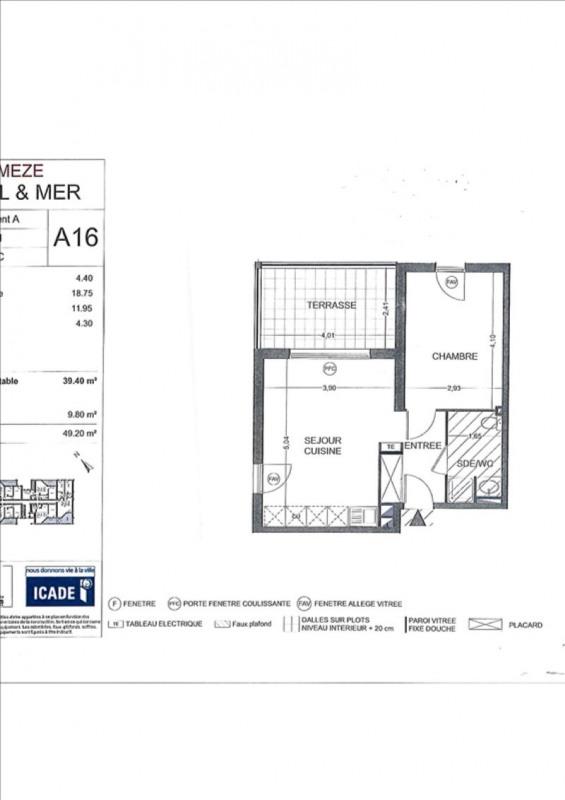 Rental apartment Meze 540€ CC - Picture 2
