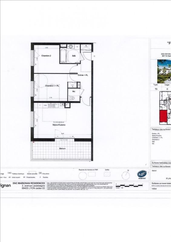Rental apartment Ste foy les lyon 877€ CC - Picture 2
