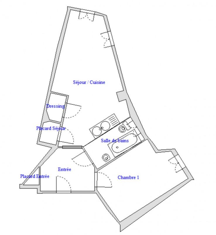 Rental apartment Puteaux 1216€ CC - Picture 6