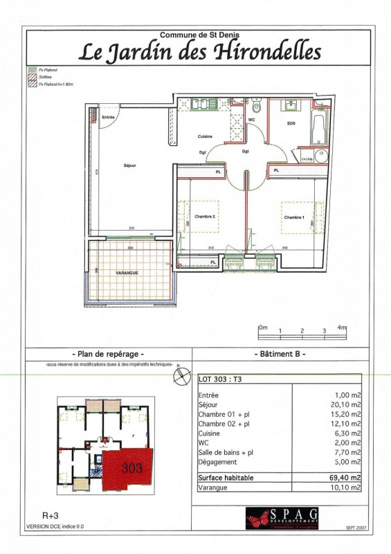 Location appartement Ste clotilde 818€ CC - Photo 7