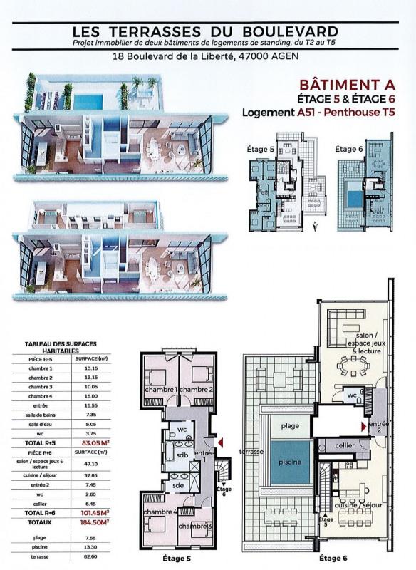 Venta de prestigio  apartamento Agen 675000€ - Fotografía 6