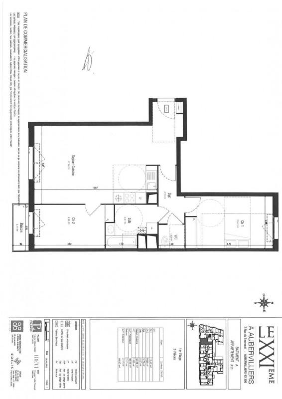 Rental apartment Aubervilliers 1100€ CC - Picture 1